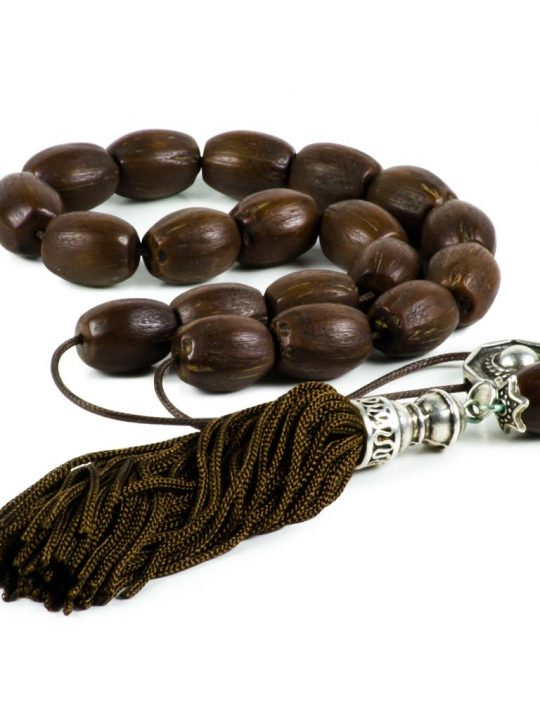 Coco Palm Seeds Greek Worry Beads Handmade Komboloi