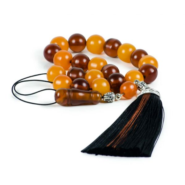 Vintage Orange Mastic Worry Beads Greek Komboloi Beads Sudurus