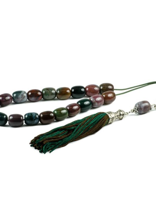Indian Agate Gemstone Worry Beads Greek Komboloi