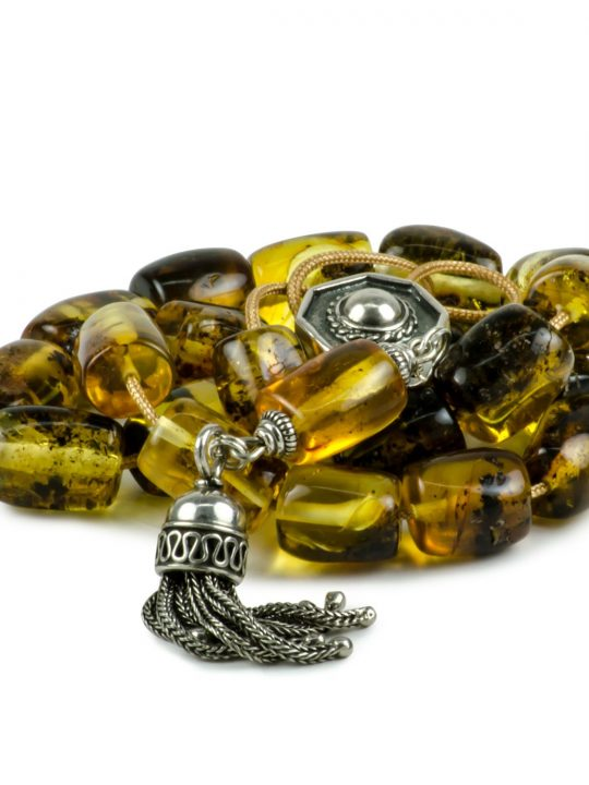 Natural Raw Baltic Amber Stone Greek Worry Beads Komboloi