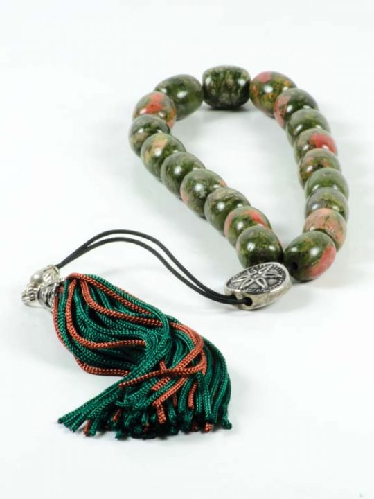 Unakite Gemstone Greek Komboloi Worry Beads