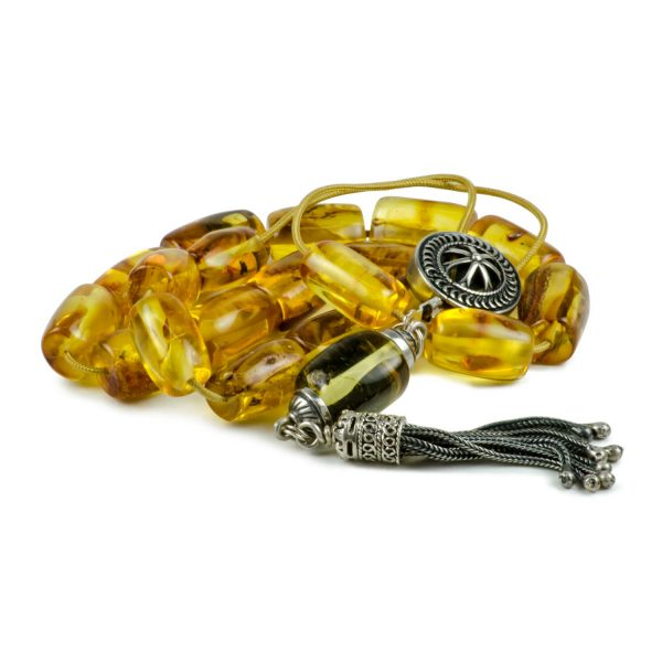 Natural Raw Baltic Amber Stone Greek Worry Beads Komboloi