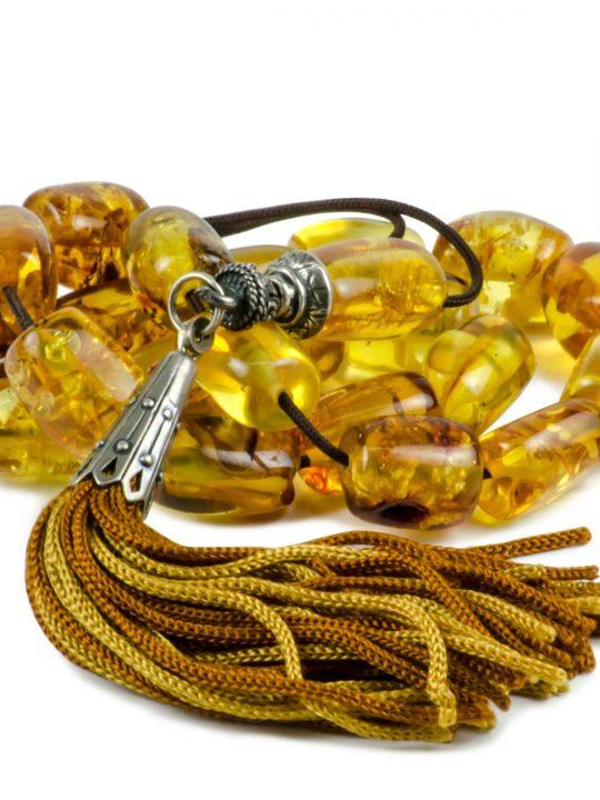 Natural Raw Baltic Amber Stone Greek Worry Beads Komboloi 37gr