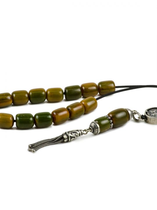 Natural Green Amber Stone Greek Worry Beads Komboloi