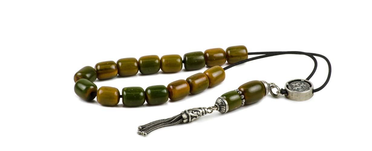 Green Amber Worry Beads