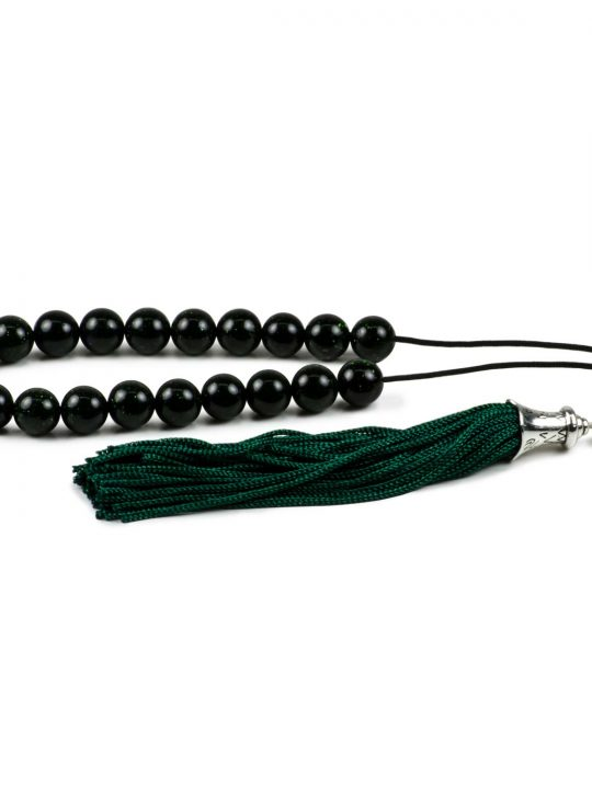 Green Goldstone Greek Worry Beads Komboloi