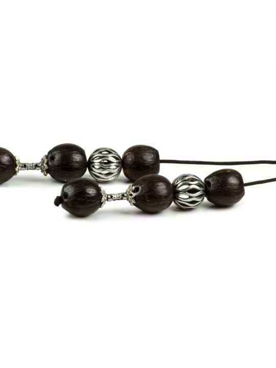 Coco Palm Seeds Greek Begleri Worry Beads Handmade Komboloi