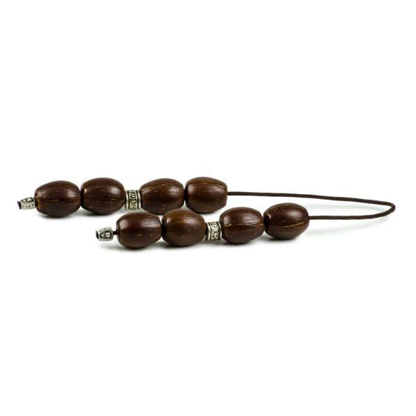 Coco Palm Seeds Greek Begleri Worry Beads Handmade Komboloi