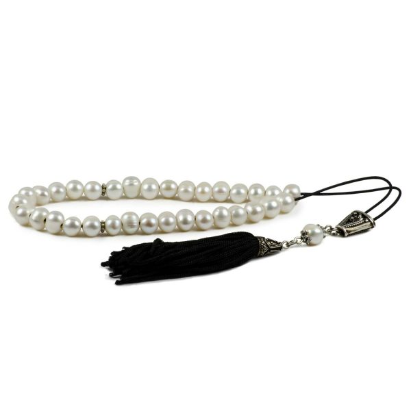 Tesbih Freshwater Pearls Greek Komboloi Worry Beads Tasbih