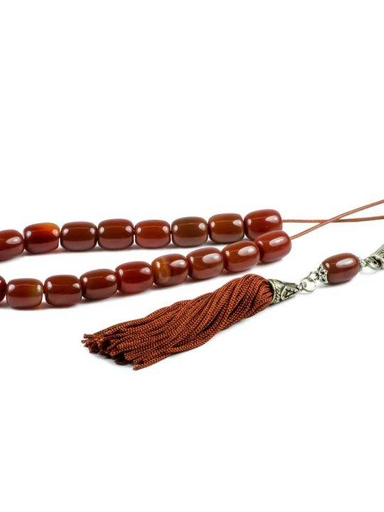 Carnelian Agate Gemstone Worry Beads Greek Komboloi