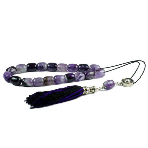 Amethyst Gemstone Greek Kombloi Worry Beads