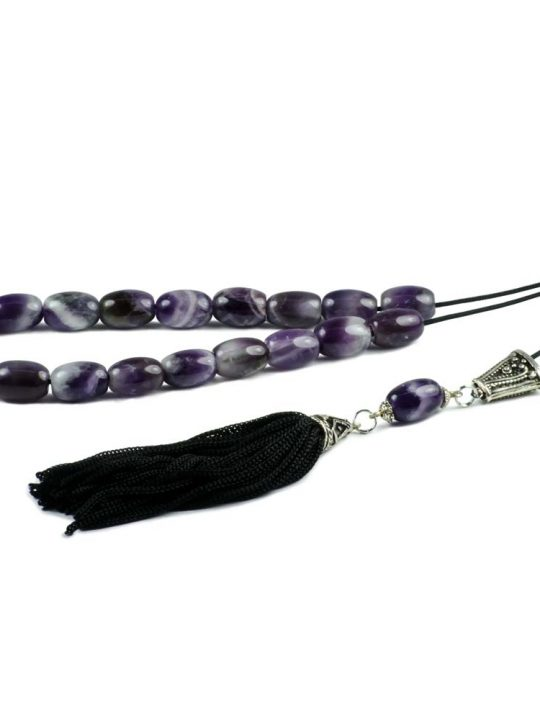 Amethyst Gemstone Greek Kombloi Worry Beads