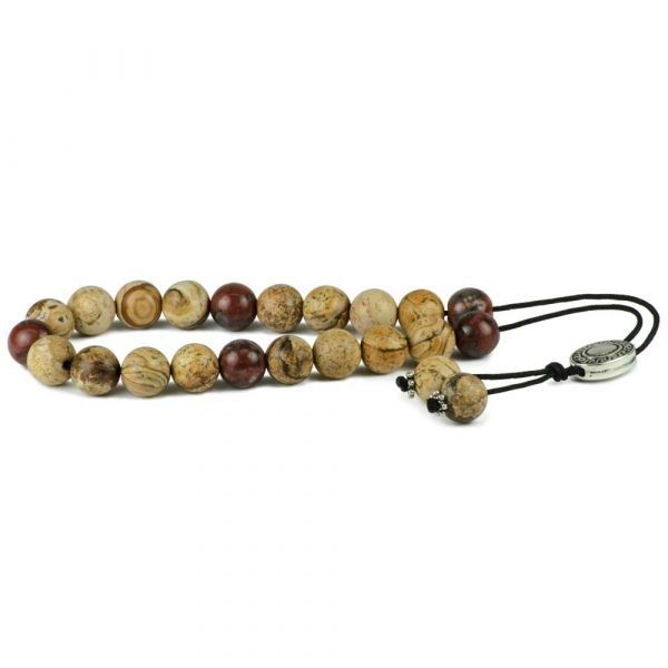Red & Yellow Jasper Gemstone Greek Worry Beads Komboloi