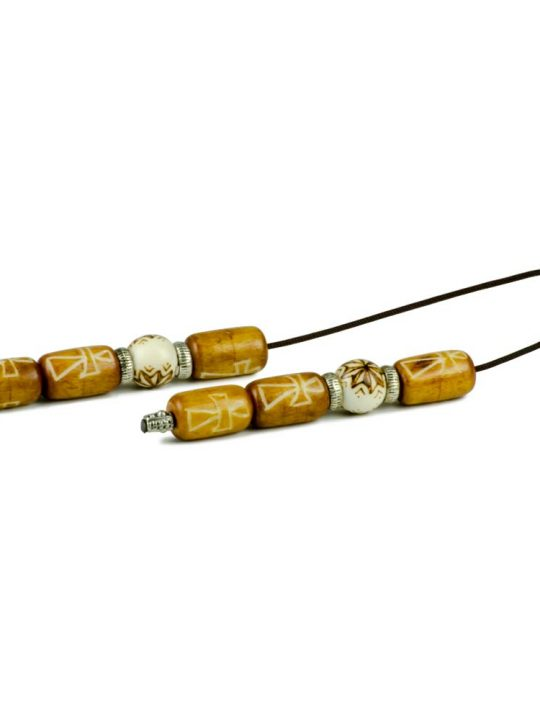 Camel Bone Greek Worry Beads Begleri Pyrography