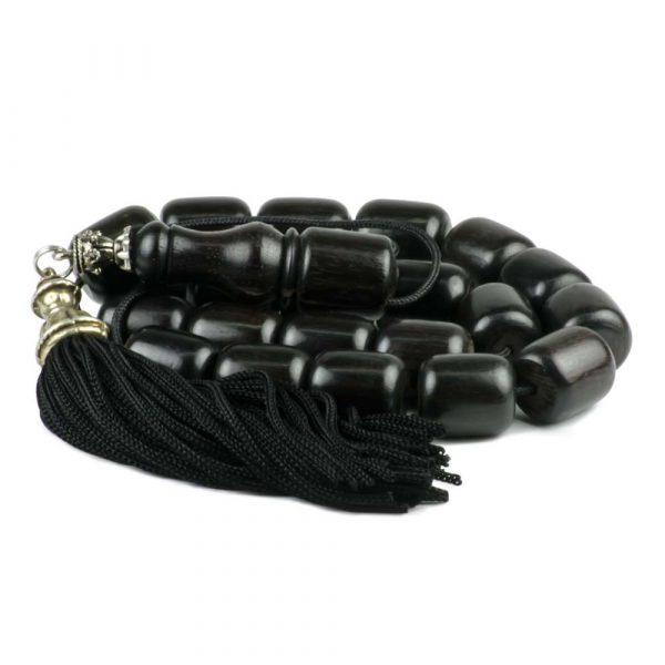 Black Ebony Wood Greek Worry Beads Komboloi