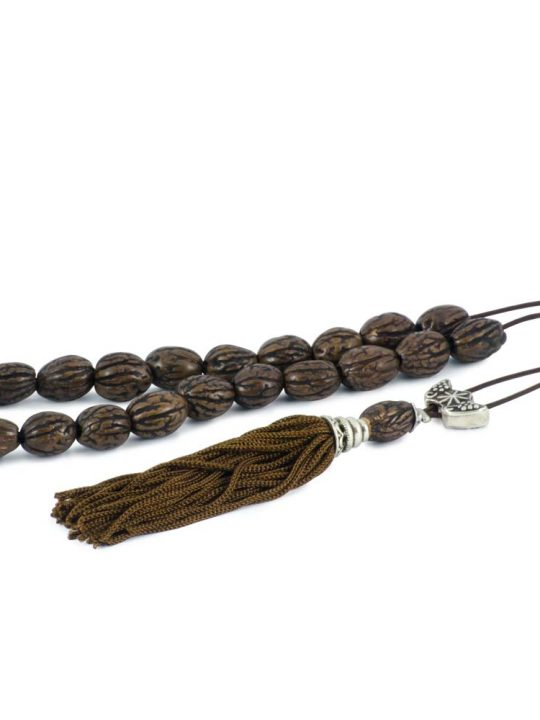 Natural Olive Kernel Greek Komboloi Worry Beads Brown