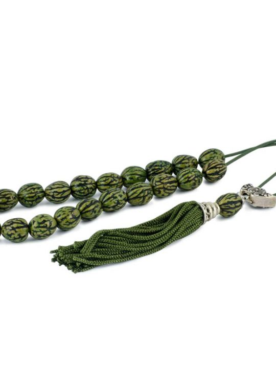 Natural Olive Kernel Greek Komboloi Worry Beads Green