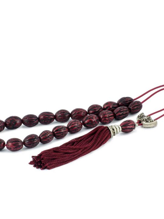 Natural Olive Kernel Greek Worry Beads Komboloi Cherry