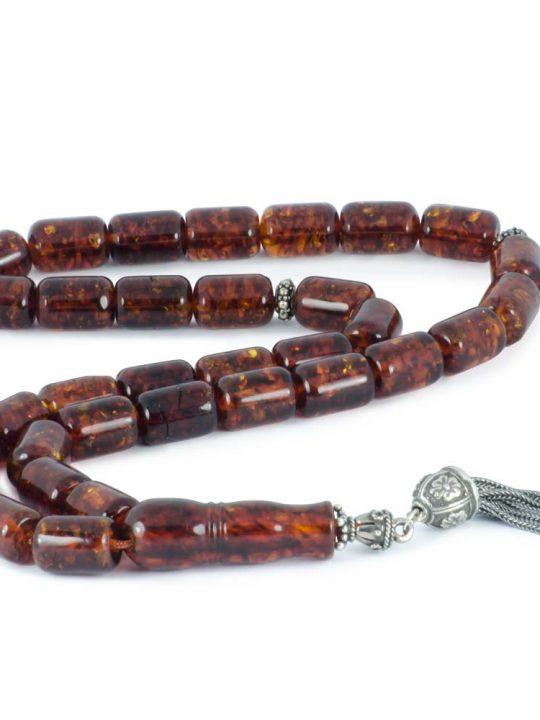 Cognac Natural Baltic Amber Stone Tasbih Worry Beads Tesbih