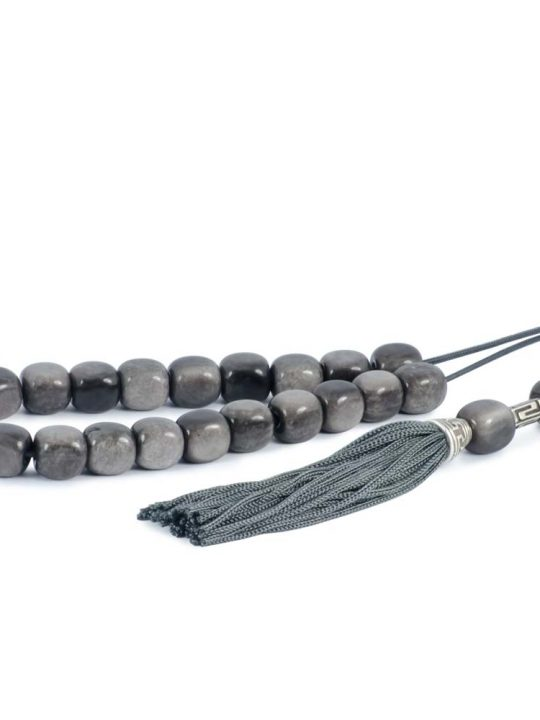 Gray Obsidian Gemstone Greek Komboloi Worry Beads