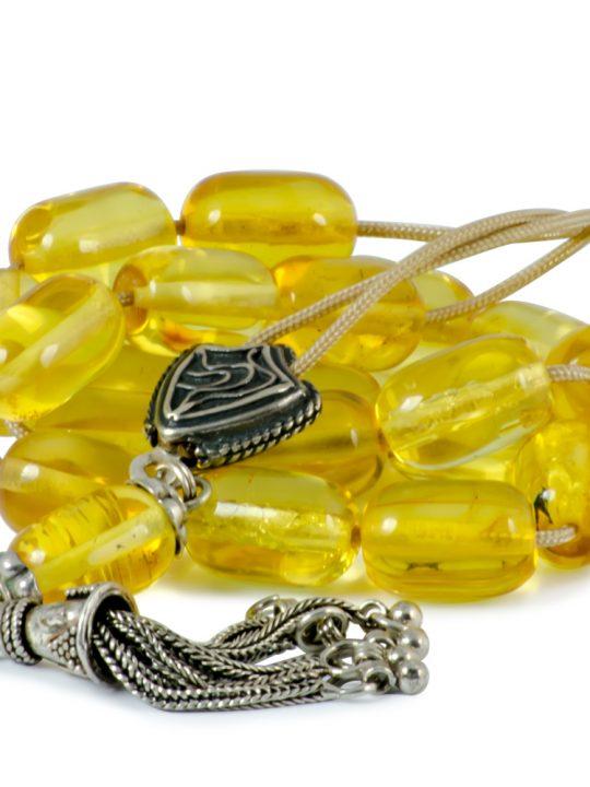 Natural Raw Baltic Amber Stone Greek Worry Beads Komboloi 29gr