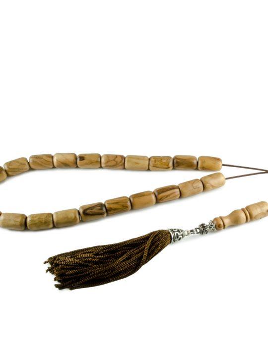Natural Olive Kernel Greek Komboloi Worry Beads Green
